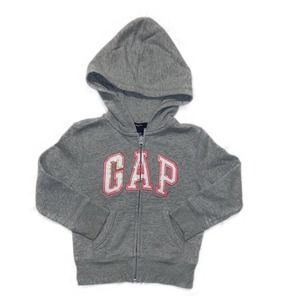 GAP Gray Hoodie Pink & White Letters Size XS 4/5